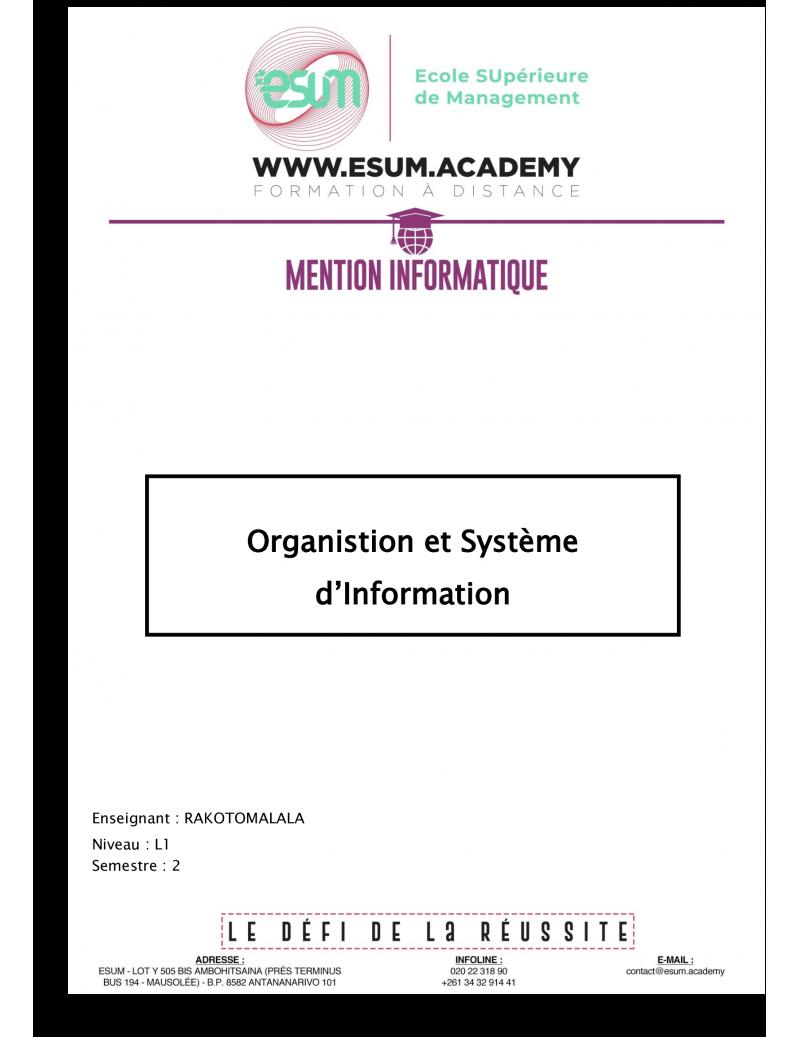 Organisation et système...