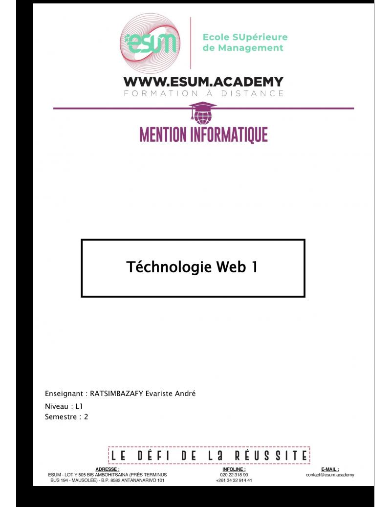 Technologie web 1