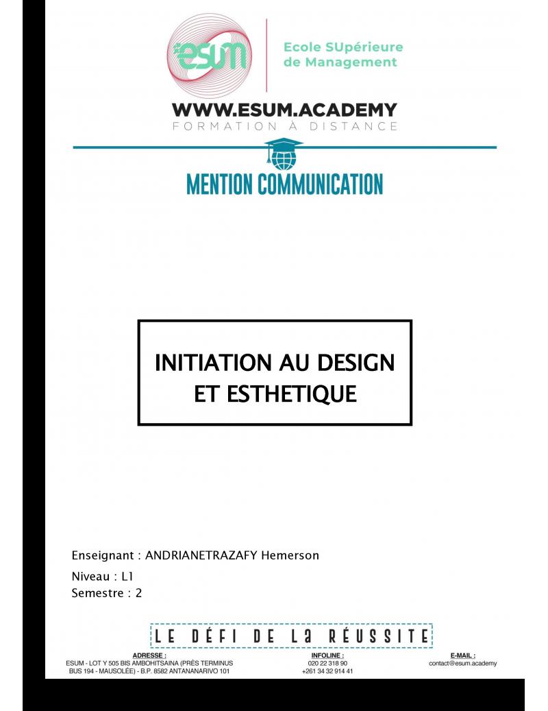 Initiation au design et...