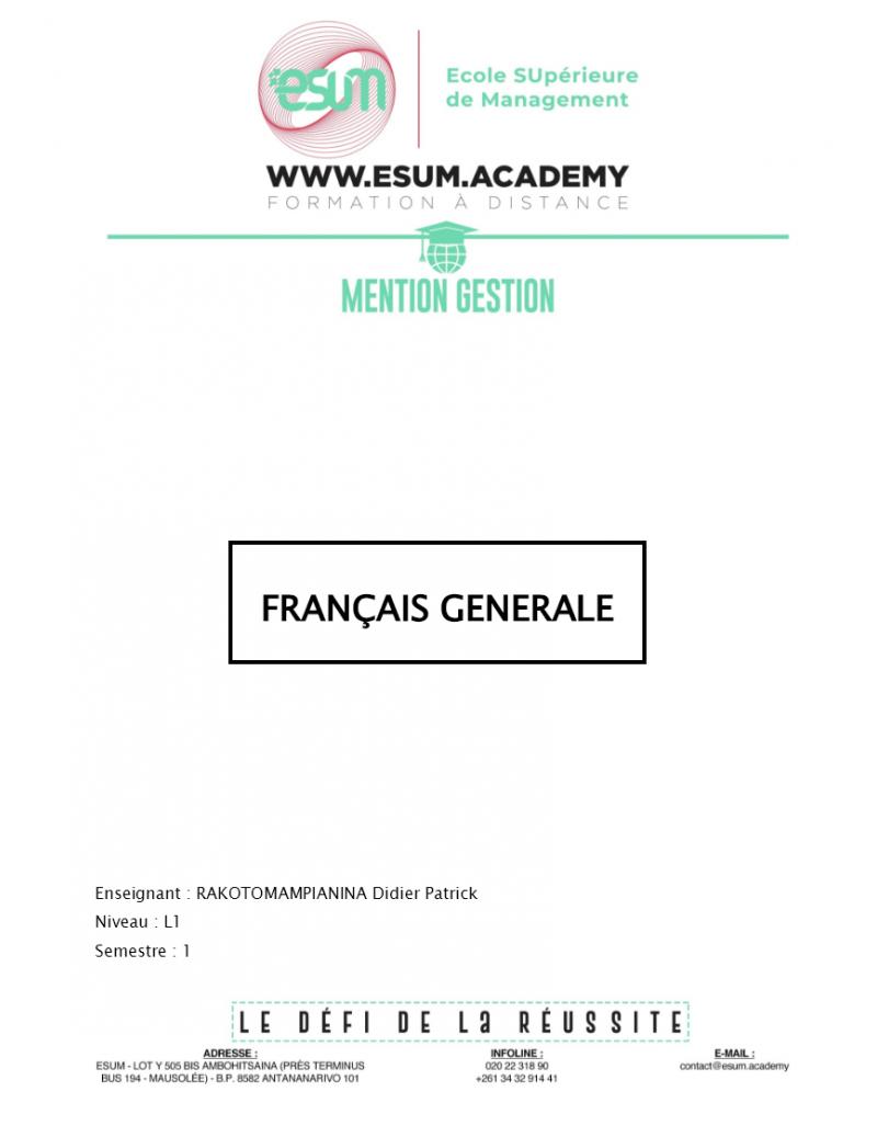 Français général
