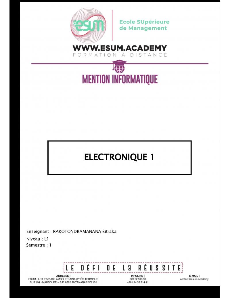 Electronique 1