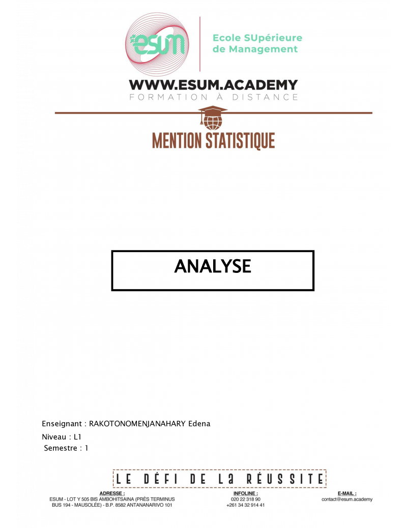 Analyse I