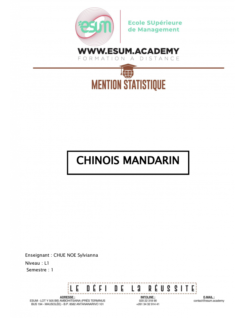 Chinois Mandarin